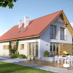 Wizualizacja projektu domu Amarylis 2: styl , w kategorii Domy zaprojektowany przez Biuro Projektów MTM Styl - domywstylu.pl
