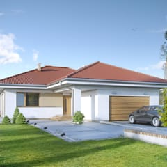 KIWI 3: styl , w kategorii Domy zaprojektowany przez Biuro Projektów MTM Styl - domywstylu.pl,