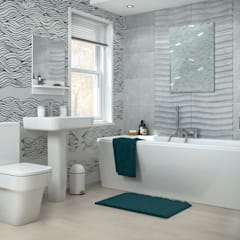 Black&White waves:  Bathroom by Pixers
