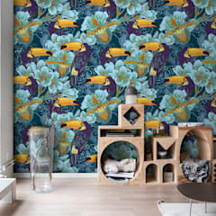 Toucans in the jungle:  Living room by Pixers