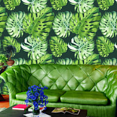 Tropical Leaves:  Living room by Pixers