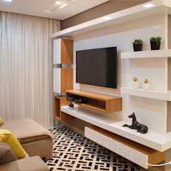 modern Media room by Only Design de Interiores