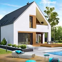 PROJEKT DOMU RIKO III G2 - pełna harmonia wnętrza z ogrodem! : styl , w kategorii Domy zaprojektowany przez Pracownia Projektowa ARCHIPELAG