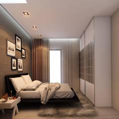 MİNERVA MİMARLIK – NAYLA 1+1 STUDIO:  tarz Küçük Yatak Odası