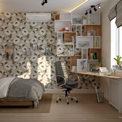 Дизайн спальни в станице Смоленская: Спальни в . Автор – Студия интерьерного дизайна happy.design