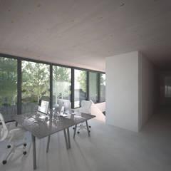 Woonhuis JWVRA: minimalistische Studeerkamer/kantoor door artisan architects