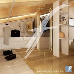 Villa AP: Spogliatoio in stile  di Fenice Interiors