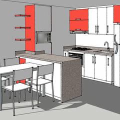 Lo primero: un render de tu cocina: Cocinas de estilo  por Remodelar Proyectos Integrales