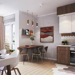 Apartment Myalik: Столовые комнаты в . Автор – Polygon arch&des