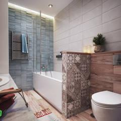 Apartment Myalik Ванная комната в скандинавском стиле от Polygon arch&des Скандинавский