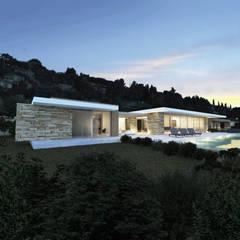 Villa e - Saint-Tropez: Maisons de style  par ARRIVETZ & BELLE