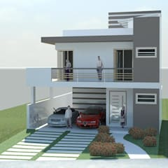 Residencia Clodoaldo: Casas  por Rafael Alves Rocha