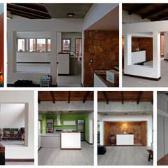 Casa patios entre medianeras: Comedores de estilo  por 1.61 Arquitectos