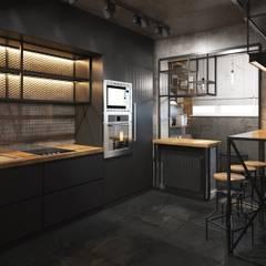 Cocinas de estilo  por Zikzak architects, Industrial