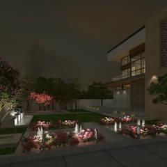 VILLA AT AMRITSAR (www.depanache.in):  Houses by De Panache  - Interior Architects