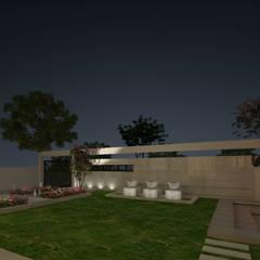 VILLA AT AMRITSAR (www.depanache.in):  Garden by De Panache  - Interior Architects