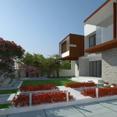 VILLA AT AMRITSAR (www.depanache.in) Modern garden by De Panache - Interior Architects Modern Stone