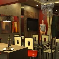 Proyecto de vivienda alquiler: Comedores de estilo  por Okarq