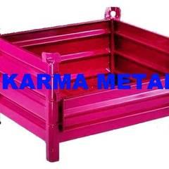 KARMA METAL – KARMA METAL -Çelik Sac Taşıma Kasaları Kasası Sandık Palet:  tarz Bahçe