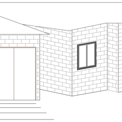 Fachada Lateral: Casas de estilo  por Loft estudio C.A.