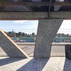 Estación Autobuses: Jardines de estilo  de arqubo arquitectos