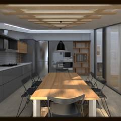 ESA PARK İÇ MİMARLIK – LBC İNŞAAT -76.CADDE ÖRNEK DAİRE :  tarz Mutfak
