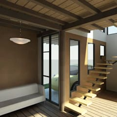 ECO - residencia: Pasillos y vestíbulos de estilo  por Loft estudio C.A.