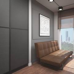 Apartament w stylu loft: styl , w kategorii Domowe biuro i gabinet zaprojektowany przez ZAWICKA-ID Projektowanie wnętrz