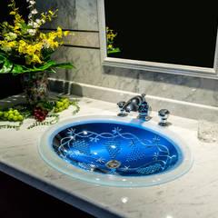 SLAVIA CRYSTAL VINEA  Decor WB-005 洗面ボウル  水栓 JORGER パラッツオクリスタル クローム  : SLAVIA  CRYSTALが手掛けた浴室です。