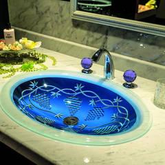 SLAVIA CRYSTAL VINEA  Decor WB-005  洗面ボウル  水栓 JORGER  フローラレクリスタル (アメジスト) : SLAVIA  CRYSTALが手掛けた浴室です。