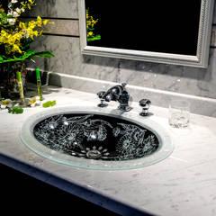 SLAVIA CRYSTAL MARGERITA FR  Decor SC-WB010 洗面ボウル  水栓 JORGER  PALAZZO CRYSTAL クローム、クリアークリスタル : SLAVIA  CRYSTALが手掛けた浴室です。