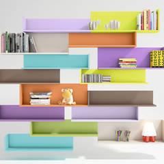 Zona estudio.: Dormitorios infantiles de estilo  de Muebles Soliño