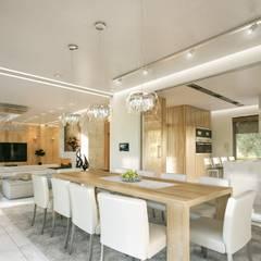 Willa Floryda: styl , w kategorii Jadalnia zaprojektowany przez MG Projekt Projekty Domów