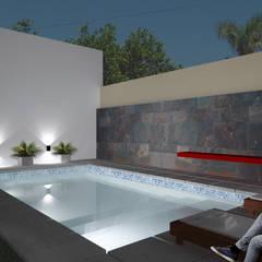 Zwembad door D'ODORICO OFICINA DE ARQUITECTURA