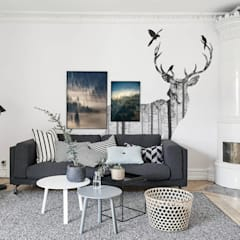Mysterious Woods: scandinavian Living room by Pixers