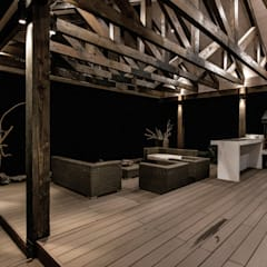 CASA RH: Terrazas  de estilo  por ESTUDIO BASE ARQUITECTOS,