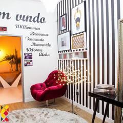 Hall social: Corredores e halls de entrada  por Franka Arquitetura