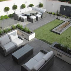 An elegant modern garden:  Garden by Robert Hughes Garden Design