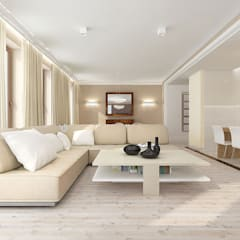 Living room by TISSU Architecture