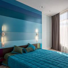 Солнечный интерьер для квартиры у моря : Спальни в . Автор – Bellarte interior studio