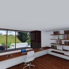 Projekty,  Domowe biuro i gabinet zaprojektowane przez ESTUDIOMORENATE