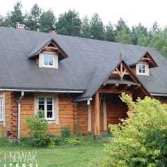 DOMY DREWNIANE: styl , w kategorii Domy zaprojektowany przez Nowak i Nowak Architekci