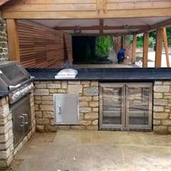 outdoor cooking area:  Garden by wood-fired oven