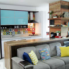 مطبخ تنفيذ PANORAMA Arquitetura & Interiores,