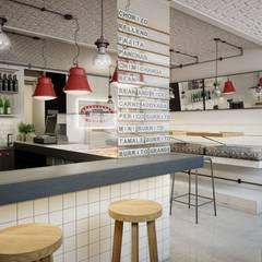 Bistro URBAN BURRITOS  w Warszawie 35 mkw: styl , w kategorii Gastronomia zaprojektowany przez INSIDEarch,