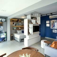 Apartamento Estúdio: Salas de estar  por Aonze Arquitetura