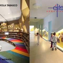 KINDER KRAYOLA VILLAHERMOSA TABASCO: Escuelas de estilo  por ELITE ARQUITECTOS