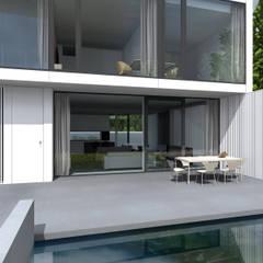 DOM AKURATNY : styl , w kategorii Taras zaprojektowany przez PAWEL LIS ARCHITEKCI