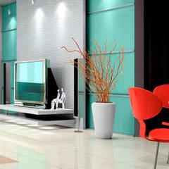 House Interiors:  Media room by Innovate Interiors & Fabricators
