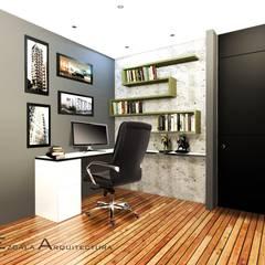 Estudio: Estudios y despachos de estilo moderno por EZCALA ARQUITECTURA